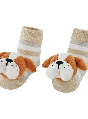 Bulldog Rattle Toe Socks