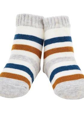Gray & Blue Stripe Socks