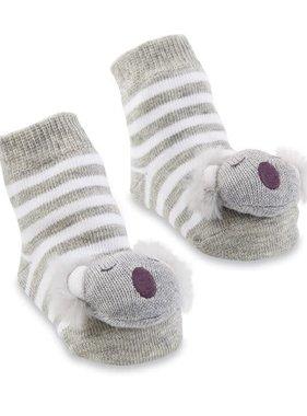 Koala Rattle Toe Socks