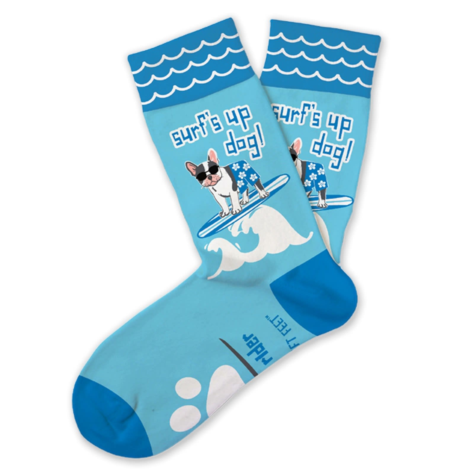 DM MERCHANDISING Surf's Up Dog Socks - Ages 7-10