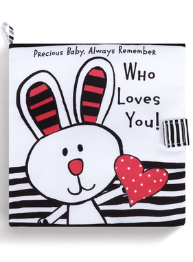 'Who Loves You'  Black & White Activity Soft Book