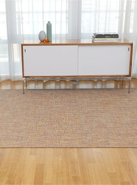 "Chilewich Mini Basketweave Floormat - Confetti  72"" x 106"""