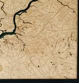 "Philadelphia Wood Map 24.5"" x 31"""