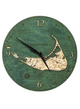 "Nantucket Wood Clock 12"""