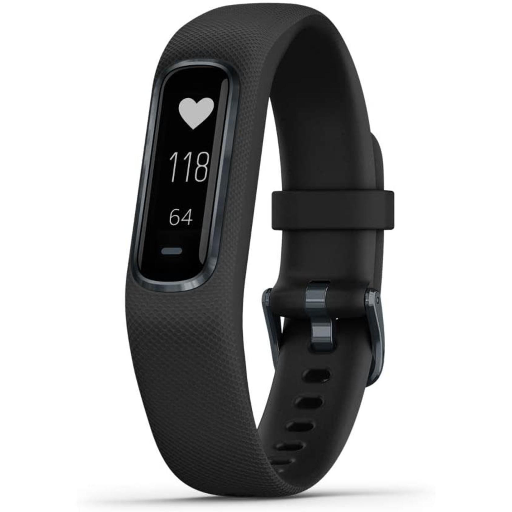 Garmin Garmin, vivosmart 4, Montre, Couleur de la montre: Noir, Bracelet: Noir - Silicone, Petit/Moyen, 010-01995-10