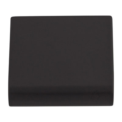 Top Knobs Europa Tab Pull Flat Black - 1 1/4 in