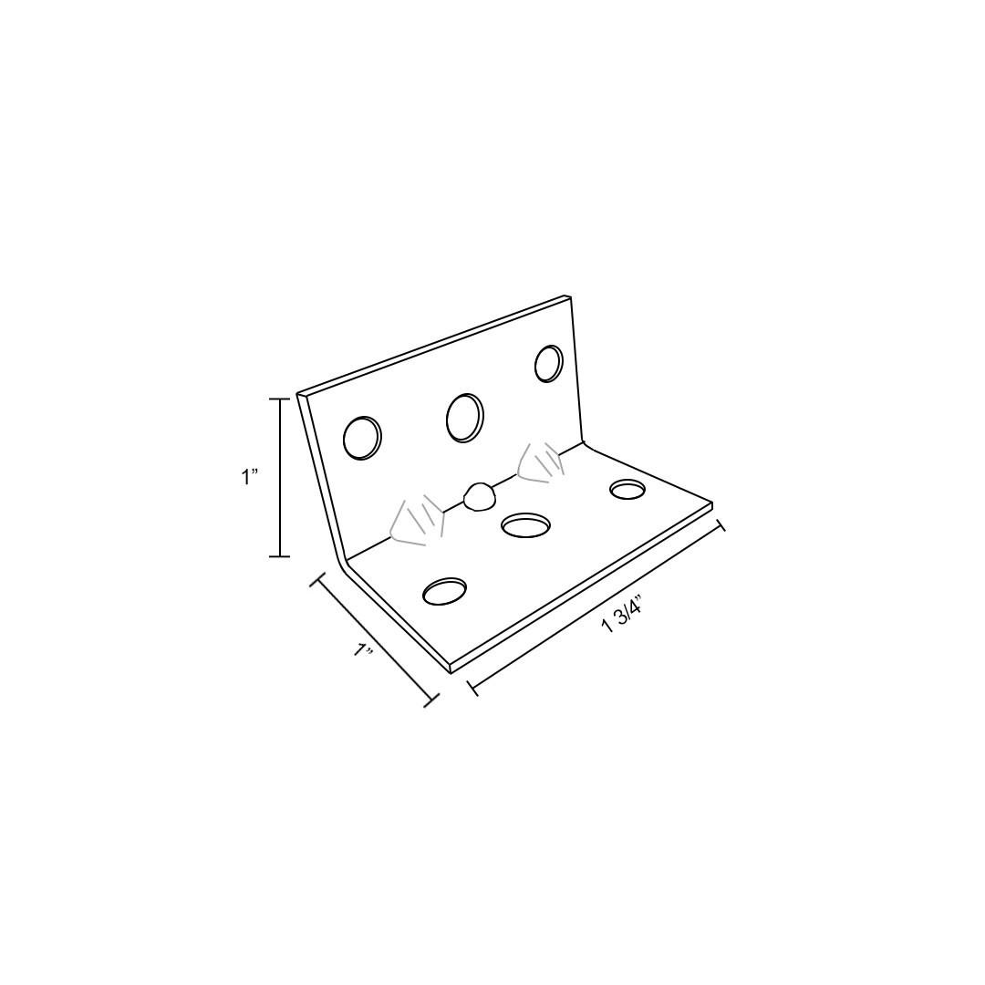 7 Hole Angle Bracket