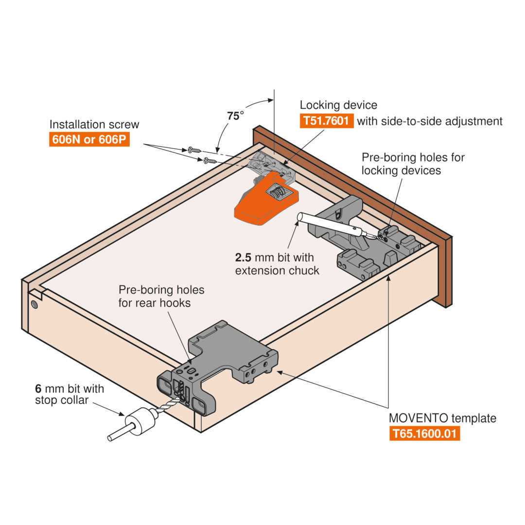 Blum Movento Locking Device
