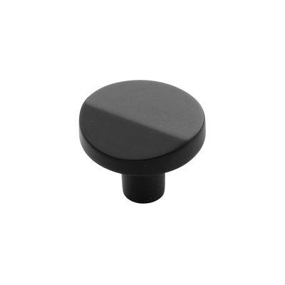 Belwith Keeler Veer Round Knob Matte Black - 1 3/8 in