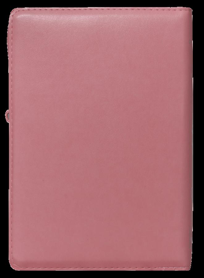 BIBLIA RVR60 INDICES CON CIERRE LETRA GRANDE ROSA