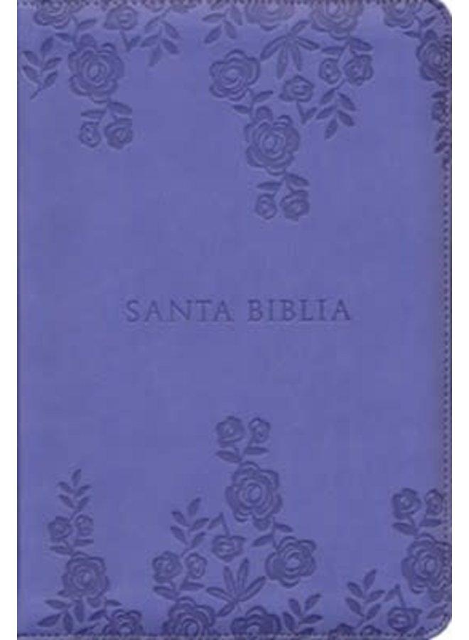 BIBLIA LETRA GRANDE TAMANO MANUAL CON INDICE Y CIERRE LILA