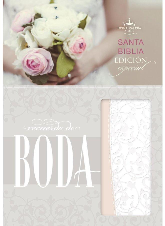 BIBLIA RVR60 RECUERDO DE BODA PALO DE ROSA
