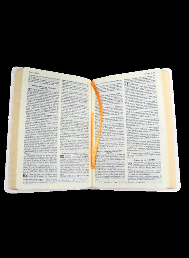 BIBLIA RVR60 BLANCA CANTO DORADO