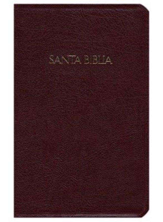 BIBLIA CON REFERENCIAS RVR60 INDICE PIEL VINO
