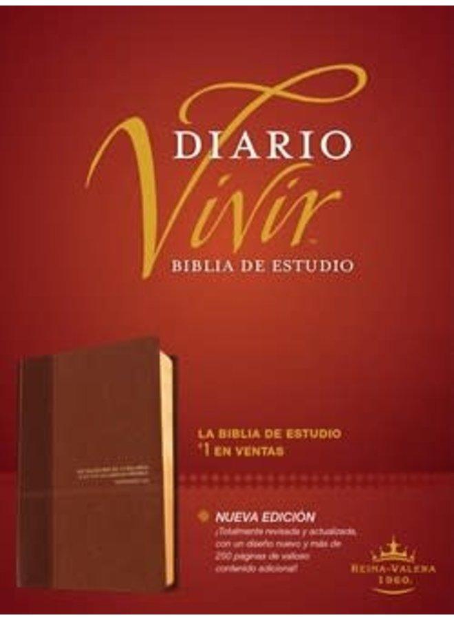 BIBLIA DE ESTUDIO DIARIO VIVIR RVR60 CAFE CAFE CLARO