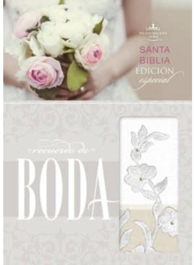BIBLIA RECUERDO DE BODA RVR60 BORDADO