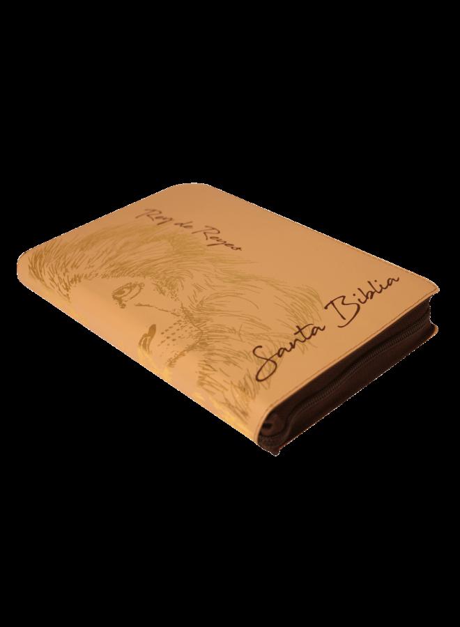 BIBLIA RVR60 BEIGE LEON