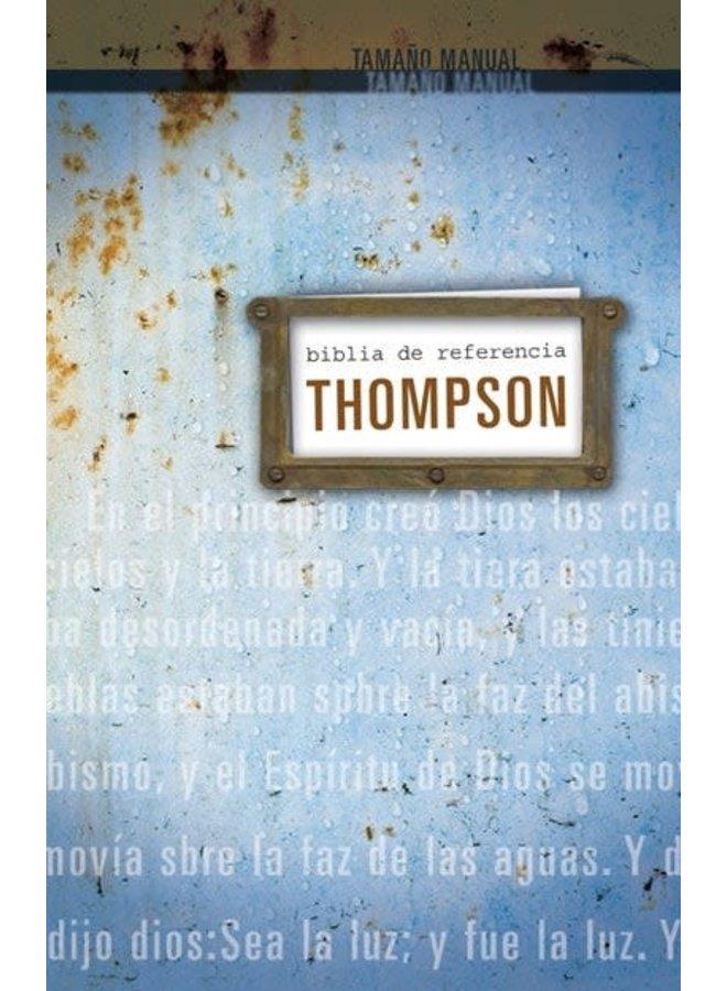 BIBLIA DE REFERENCIA THOMPSON RVR60 TAPA DURA AZUL