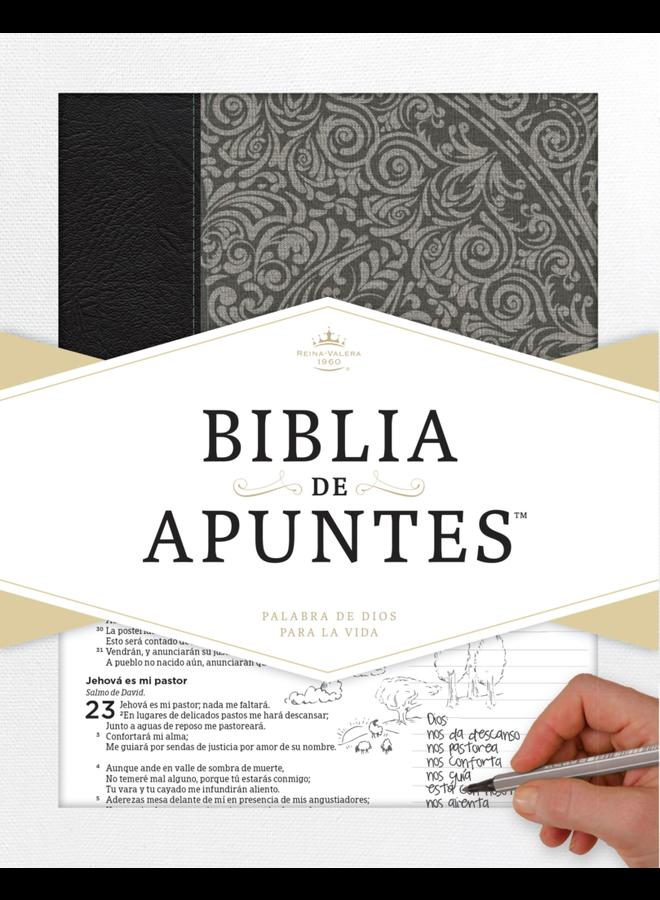 BIBLIA DE APUNTES RVR60 PIEL GRIS