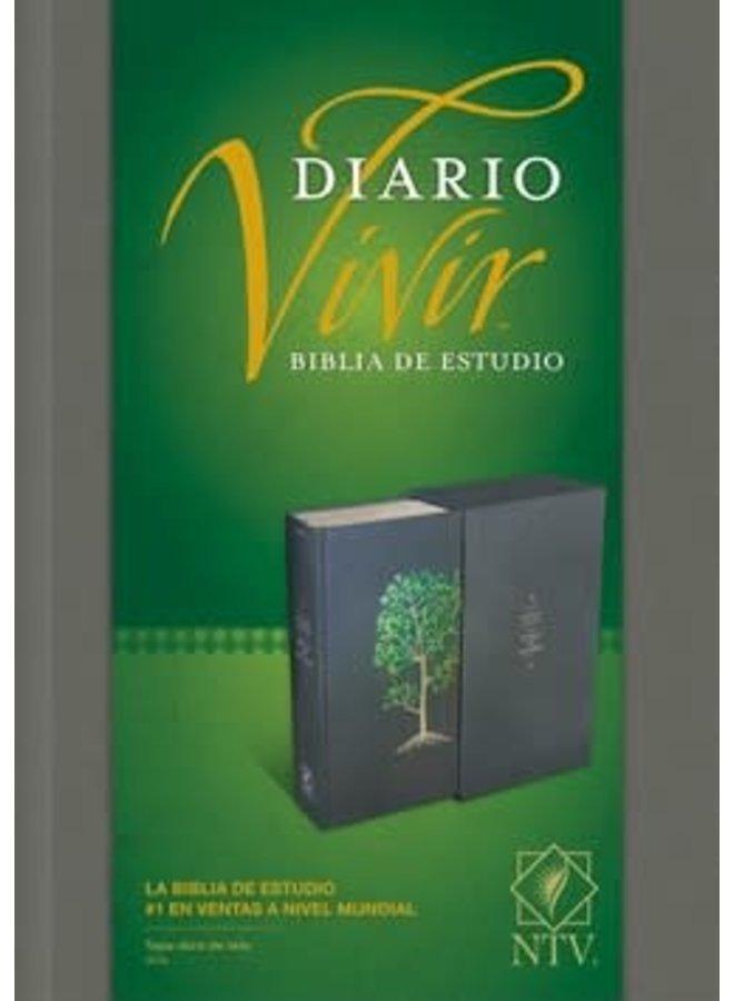 BIBLIA DE ESTUDIO DEL DIARIO VIVIR NTV PASTA DURA ARBOL VERDE