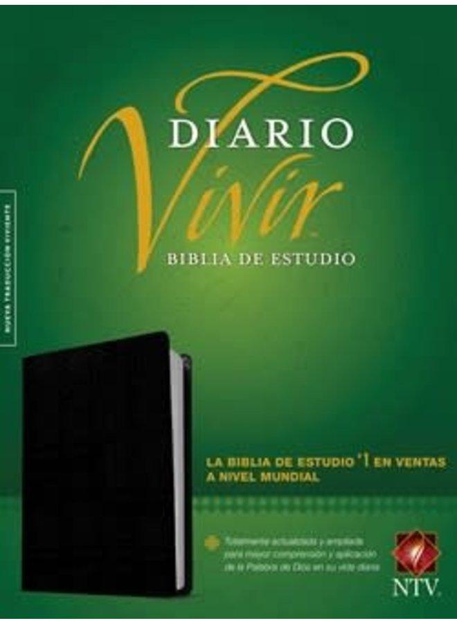 BIBLIA DE ESTUDIO DIARIO VIVIR NTV NEGRO