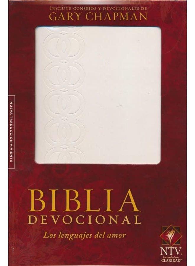 BIBLIA DEVOCIONAL LOS LENGUAJES DEL AMOR BLANCA