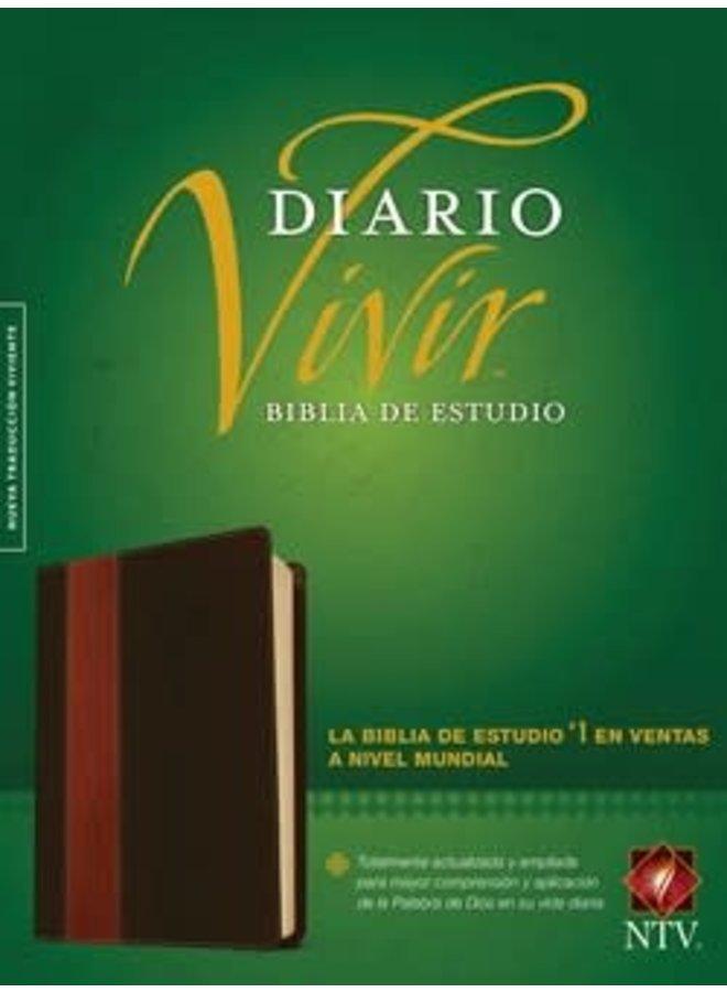 BIBLIA DE ESTUDIO DIARIO VIVIR NTV CAFE CLARO
