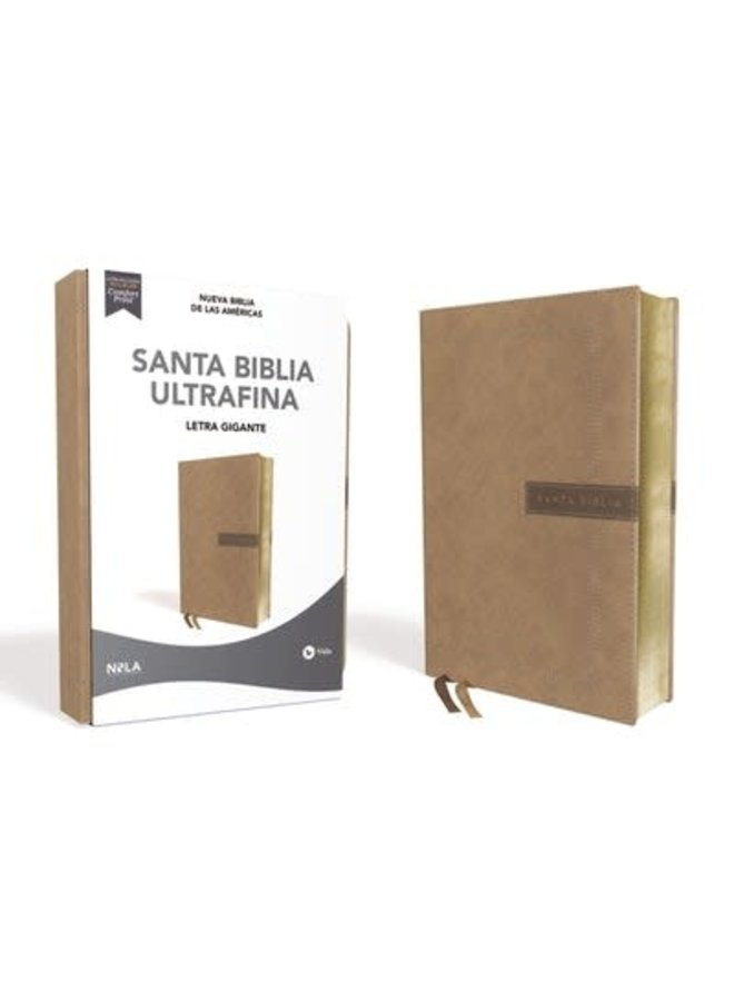 BIBLIA NBLA ULTRAFINA LETRA GIGANTE BEIGE