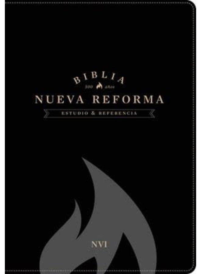 BIBLIA DE ESTUDIO NVI NUEVA REFORMA PIEL ITALIANA NEGRO
