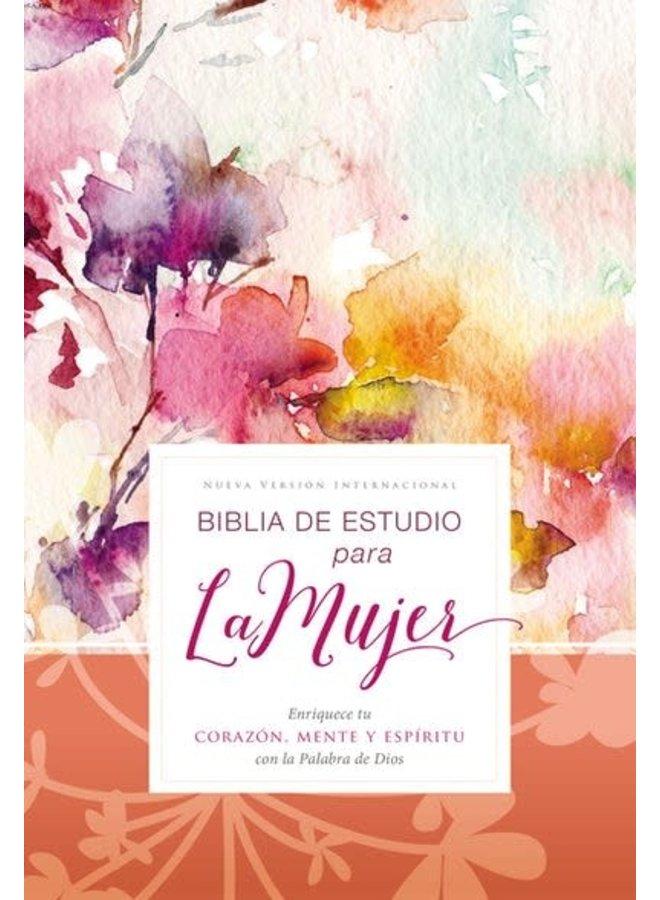BIBLIA DE ESTUDIO PARA LA MUJER NVI, TAPA DURA