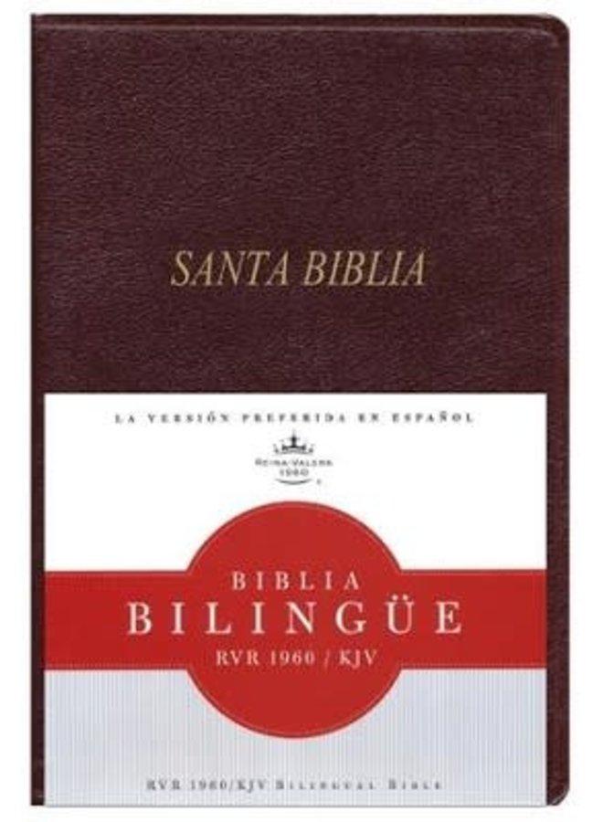 BIBLIA BILINGUE RVR60 KJV IP ROJIZO