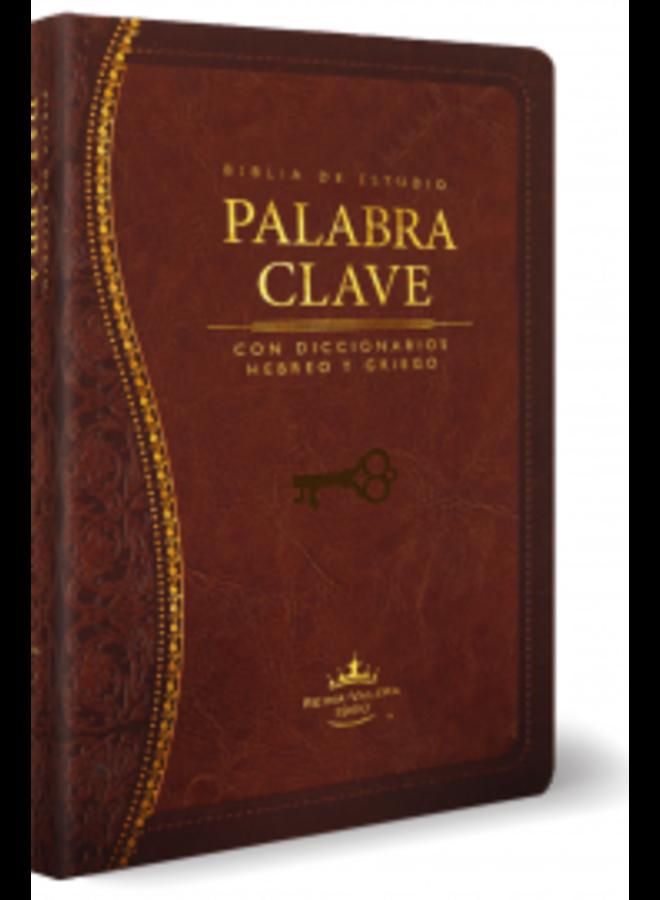 BIBLIA DE ESTUDIO PALABRA CLAVE RVR60 MARRON