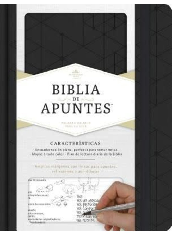 BIBLIA DE APUNTES RVR60 IP NEGRO