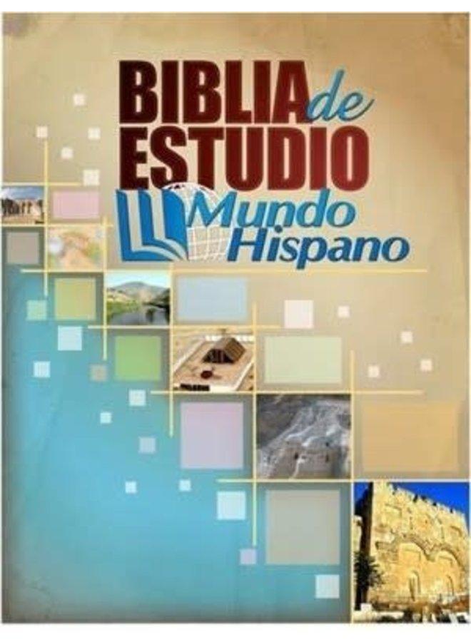 BIBLIA DE ESTUDIO MUNDO HISPANO PASTA DURA