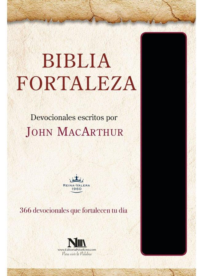 BIBLIA FORTALEZA RVR60 JOHN MACARTHUR NEGRO