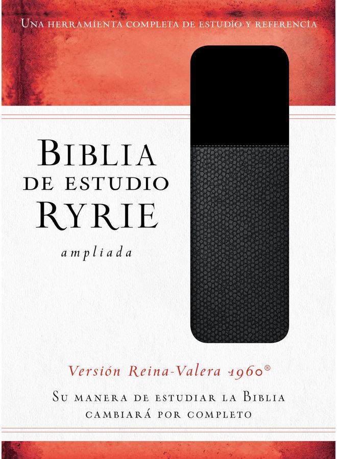 BIBLIA DE ESTUDIO RYRIE AMPLIADA: DUO-TONO NEGRO