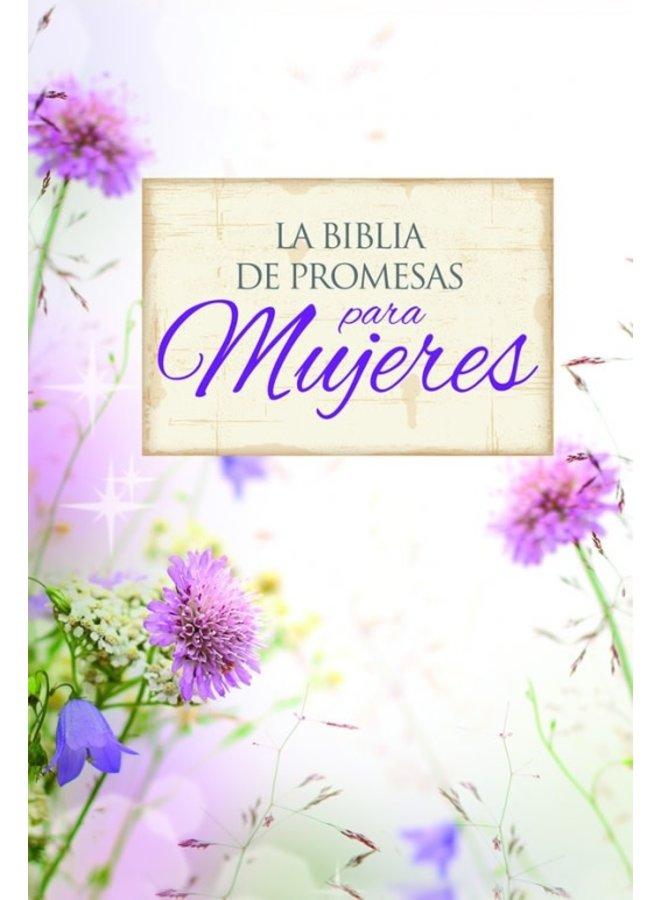 BIBLIA DE PROMESAS LETRA GRANDE PIEL ESPECIAL FLORAL