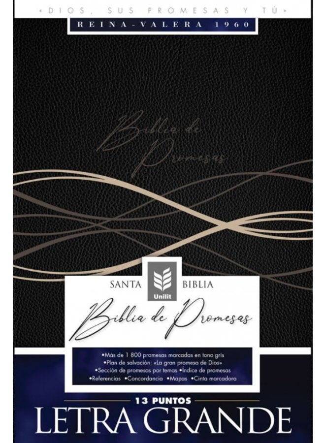 BIBLIA DE PROMESAS / LETRA GRANDE / NEGRO MODERNO