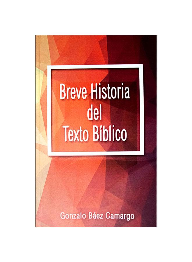 BREVE HISTORIA DEL TEXTO BIBLICO