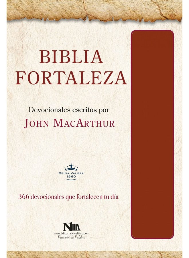 BIBLIA FORTALEZA RVR60 JOHN MACARTHUR  VINO