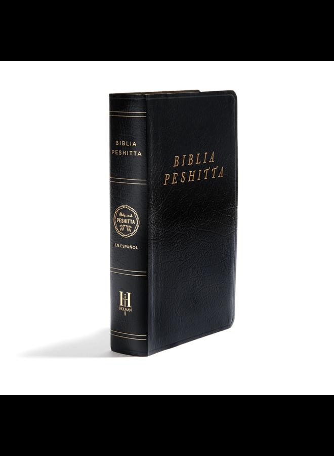 BIBLIA PESHITTA IMITACION PIEL NEGRA CON INDICADORES