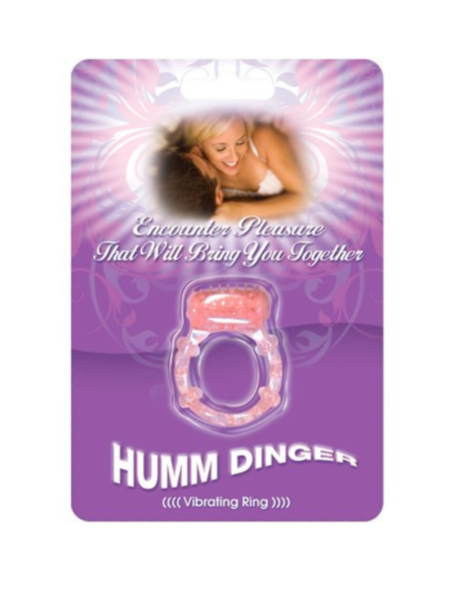 Humm Dinger Humm Dinger Dual Vibrating Cock Ring (magenta)