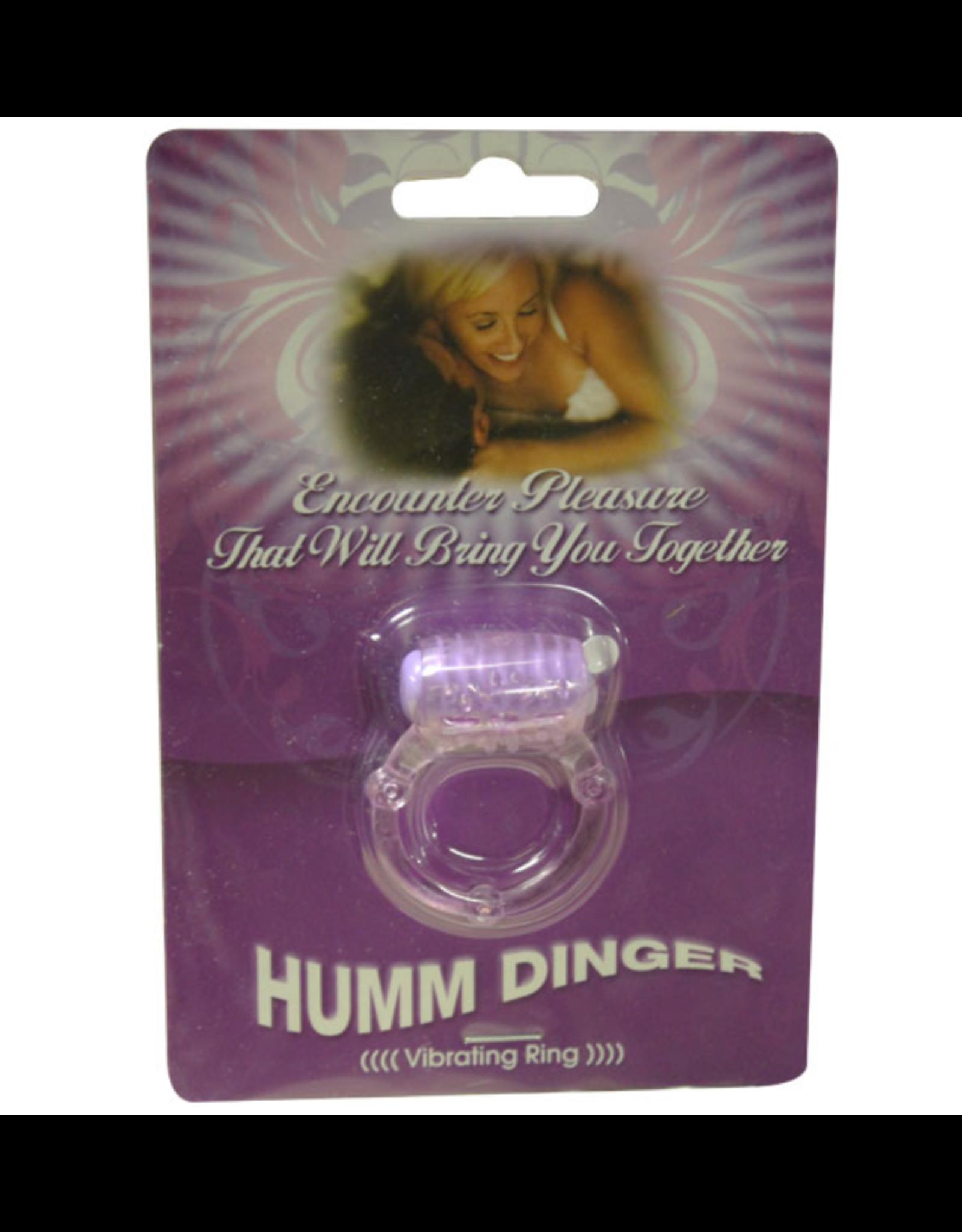 Humm Dinger Humm Dinger Dual Vibrating Cock Ring (purple)
