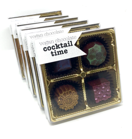 Cocktail Time - Boozy vegan dark chocolate truffles