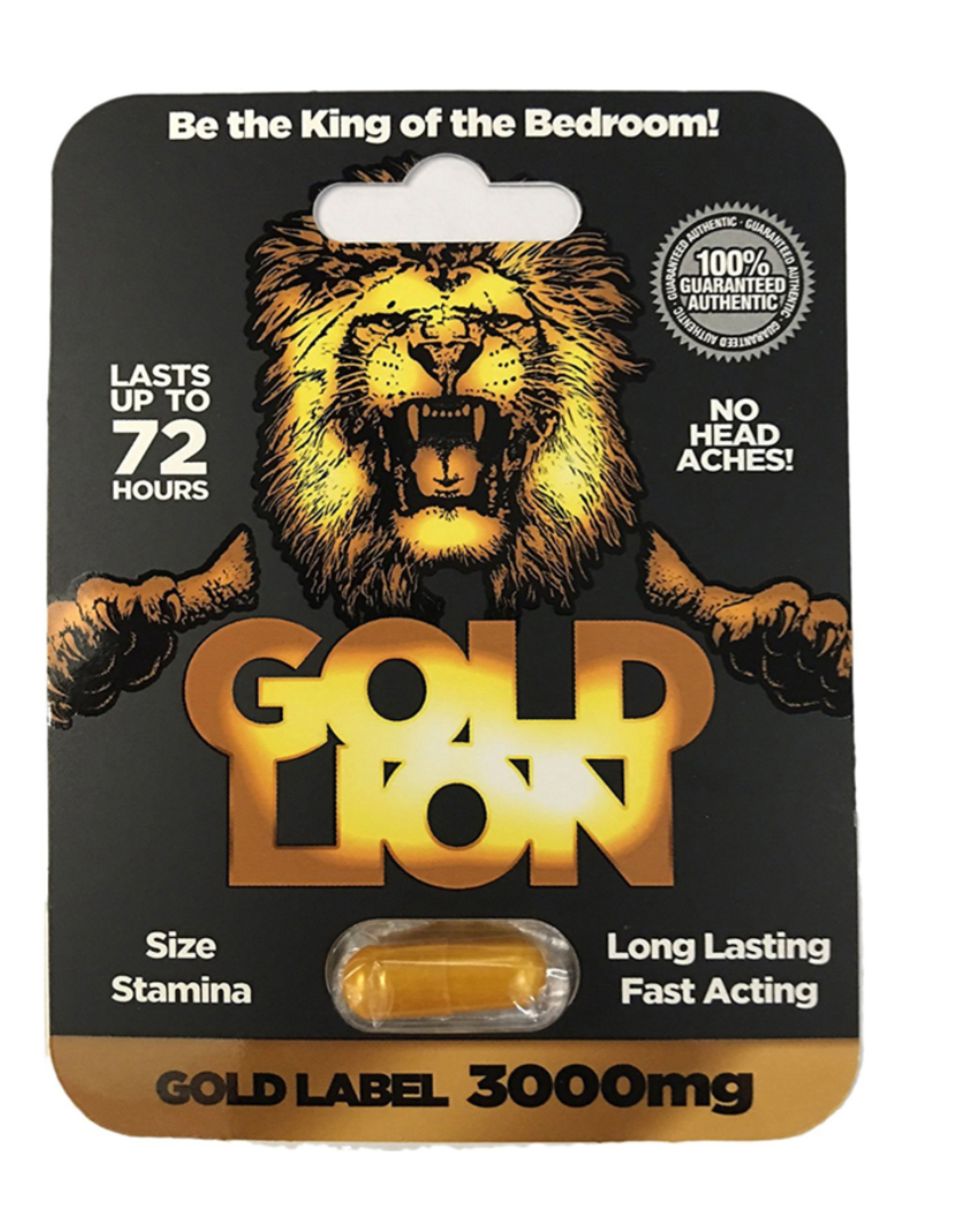 Gold Lion Male Enhancement Pill