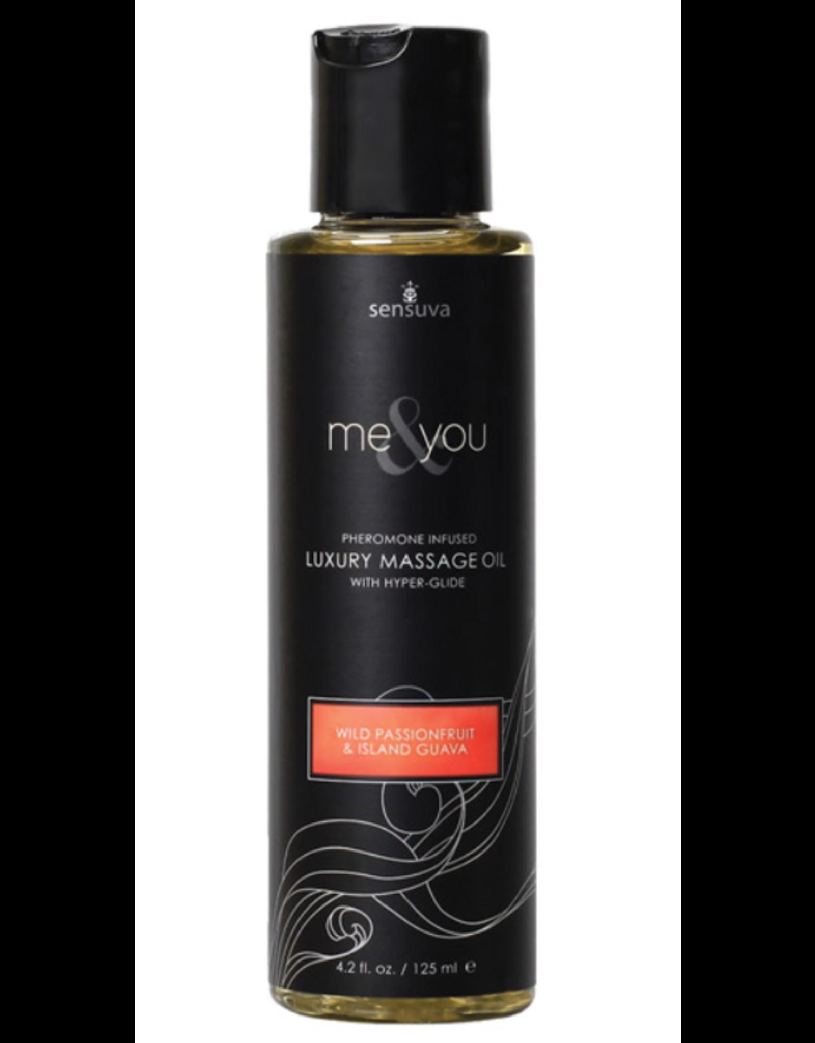 Sensuva Me & You Massage Oil - 4.2 oz Passion Fruit Guava