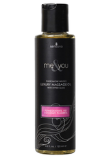 Sensuva Me & You Massage Oil - 4.2 oz Pomegranate Fig/Coconut Plumeria