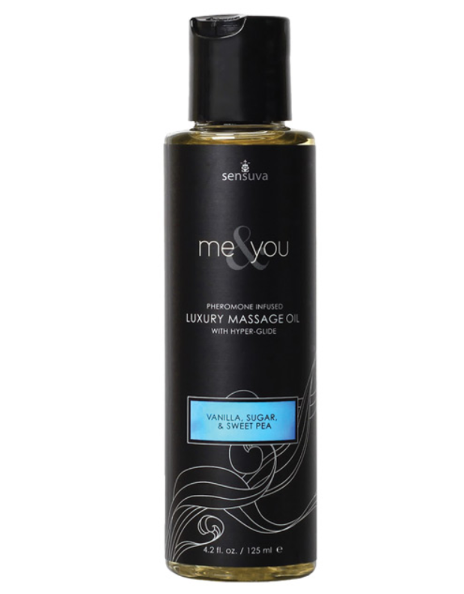 Sensuva Me & You Massage Oil - 4.2 oz Vanilla Sugar Sweet Pea