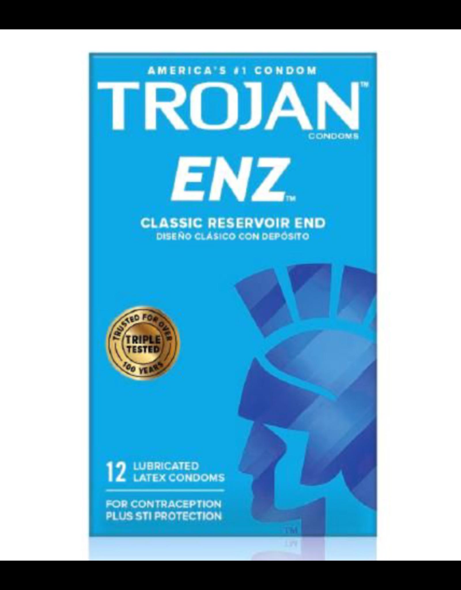 Trojan Enz Lubricated Condoms 12pk