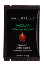 Wicked Sensual Care Aqua Water Based Lubricant - .1 oz Candy Apple